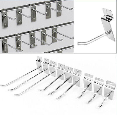 25pcsset Strong Slatwall Single Hook Pin Shop Display Fitting Prong Hanger