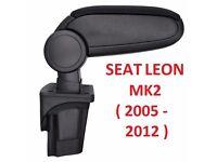ORGINAL BRAND NEW CAR ARMREST SEAT LEON MK2 II 1P (2005-2012) CENTRE CONSOLE ARMREST BLACK UK STOCK!