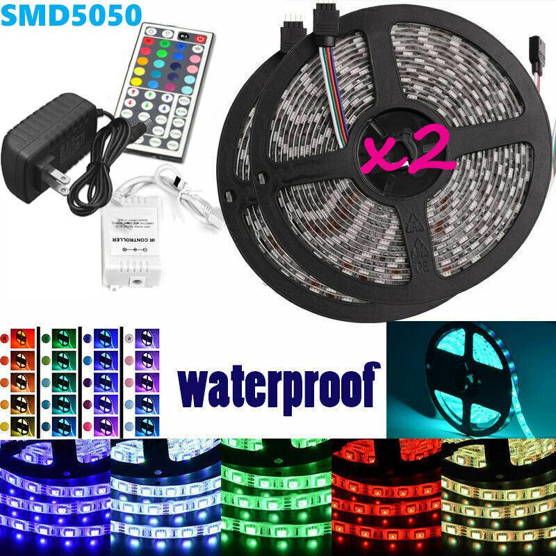 Led Strip Lighting 2*5M 32.8 Ft 5050 RGB 150 LEDs Flexible C