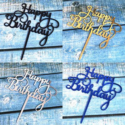 Fashion 4 Colors Acrylic Cake Topper Happy Birthday Cake Decor Party Supplies (Happy Birthday Fashion)