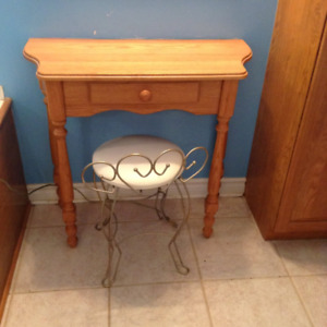 Oak couch table or makeup table