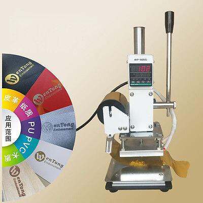 810cm Manual Digital Hot Foil Stamping Machine Pvc Card Leather Bronzing 110v