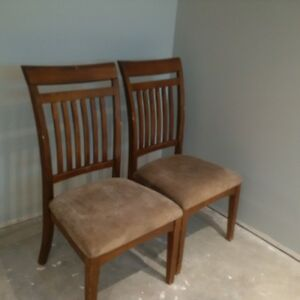 Dining chairs x 2