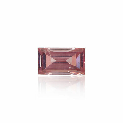 Pink Diamond Natural Fancy 0 .08 Ct Intense Loose GIA Certified Baguette Cut