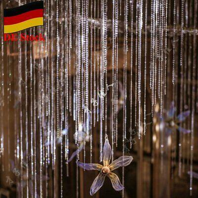30M Acryl Kristall Diamanten Girlande Perlen Kette Basteln Schmuck Hochzeit Deko