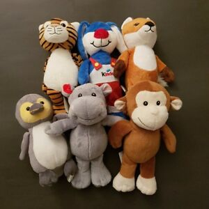 Toutous Peluche Kinder Plush stuffed animals - Lot de/of 6