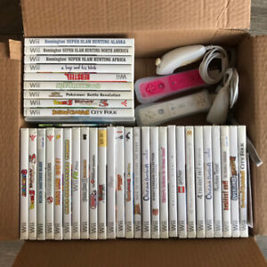 Nintendo Wii games and controllers for sale