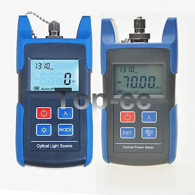 Fiber Optical Light Source Optical Power Meter With Fcsc Adapter Ftth Tool