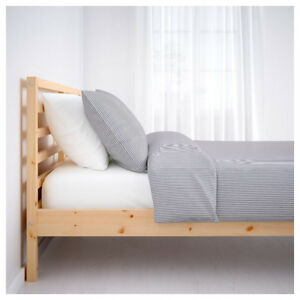 IKEA TARVA Queen Bed Frame, solid pine, like new