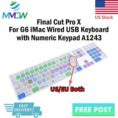 Final Cut Pro X Silicone Keyboard Cover Skin for iMac G6 Numeric Keypad