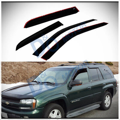 Smoke Front Deflectors - 4pcs Smoke Sun/Rain Guard Vent Shade Window Visors Fit 02-09 Trailblazer/Envoy