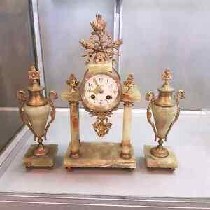 Antique Portico Clock (French Origen and Movement 1923)