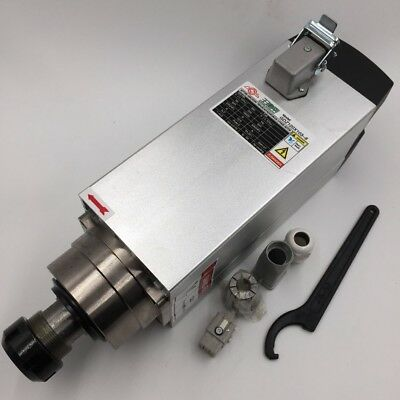 6kw Spindle Motor 4 Bearing Air-cooled 18000rpm High Speed 220v Vfd Inverter Kit