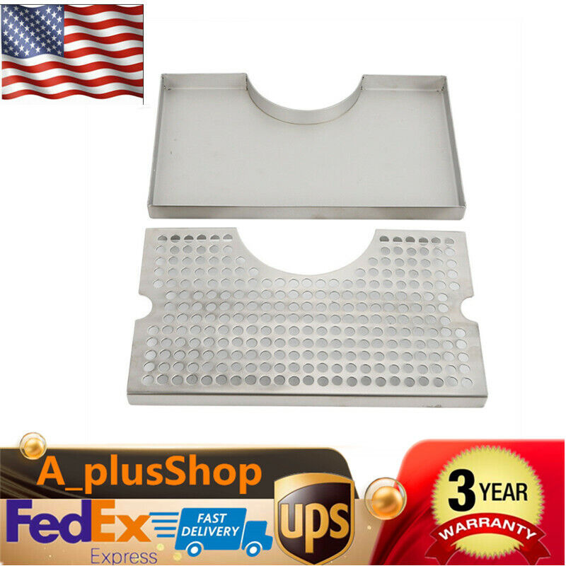 Beer Drip Tray stainless steel surface installation without drainage USA STOCK