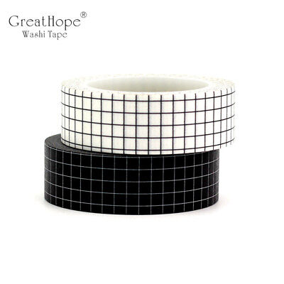 Decor Grid Japanese Paper Washi Tape Set for Planner Scrapbooking Bujo Masking