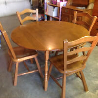 Solid Wood Table and Chairs/ (hutch sold seperately)