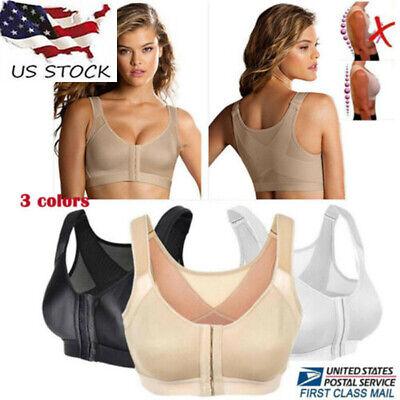 Women Posture Corrector Bra Wireless Back Support Lift Up Yoga Bra Underwear
