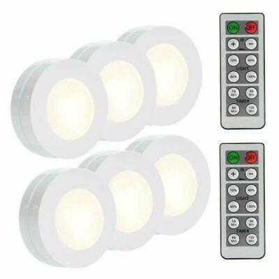 - Wireless Led Puck Light With Remote Control Under Cabinet Lighting White 6 Pack