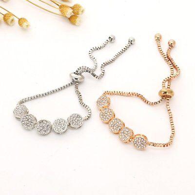 New Fashion Adjustable Crystal Bracelets Charm Women Wedding Jewelery Party Gift