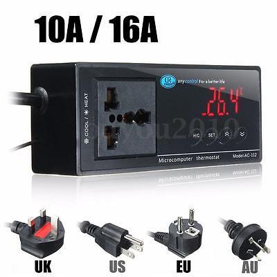 Digital Led Temperature Controller Thermostat For Aquarium Reptile 110220v