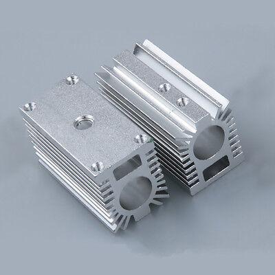 Silver 12mm Aluminum Cooling Housing Heat Sink Holder Mount Part F Laser Module