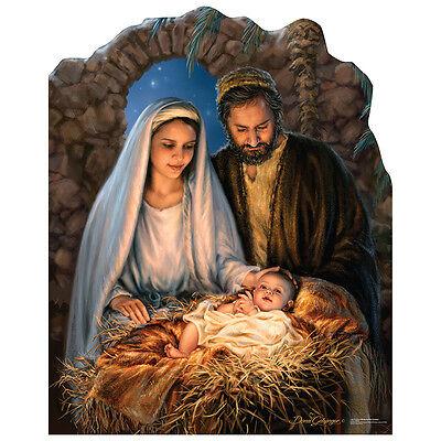 NATIVITY SCENE Christmas Mary Joseph Baby Jesus CARDBOARD CUTOUT Standup Standee