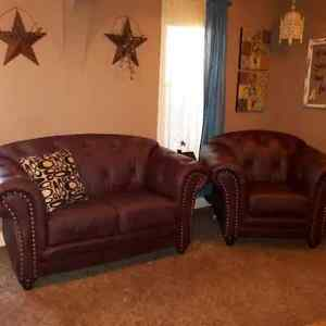 Excellent Condition Loveseat and chair