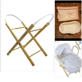 Baby bassinet and bath with srand and free mat