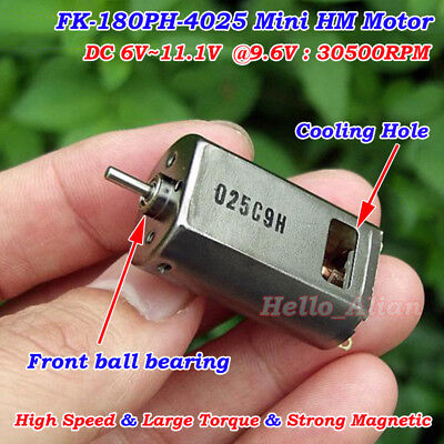 Dc 6v11.1v 7.4v 9.6v 30500rpm High Speed Magnetic Mini 180 Motor Diy Rc Toy Car