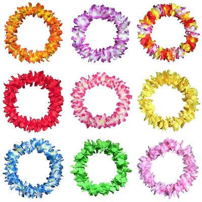60Pcs Petal Lei Flower Garlands Necklace Hawaiian Summer Beach Party Dress Decor - Hawaiian Flower Necklace
