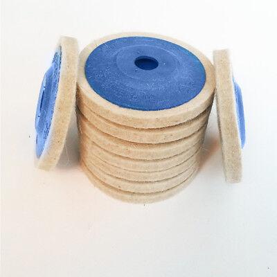 100% Wool Buffing Pad (3/10PCS 100mm 4Inch Wool Buffing Angle Grinder Wheel Felt Polishing Disc Pad)