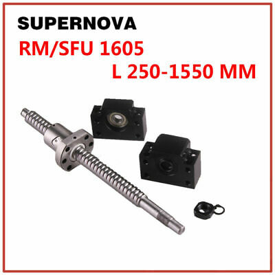 Ball Screws Sfu1605 16mm L250mm-1550mm With Locknut Bf12bk12 End Supports Cnc