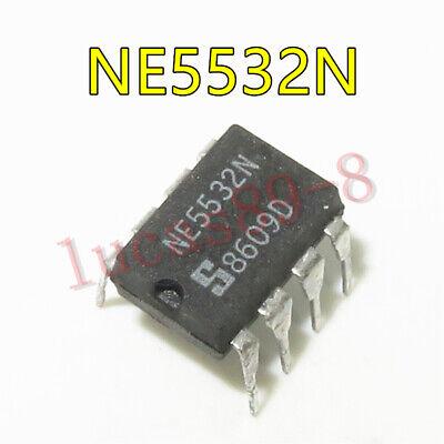 10PCS OP AMP IC SIGNETICS DIP-8 NE5532N 100/% Genuine and New