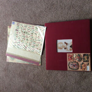 Christmas themed scrapbook with pages