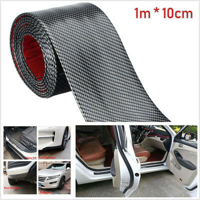 Carbon Fiber Style Car Scuff Plate Door Sill Cover Panel Step Protector Sticker, used for sale  Shipping to Canada