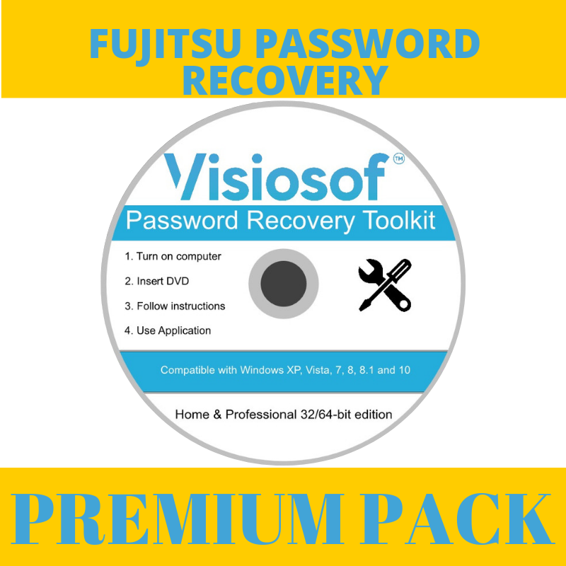 FUJITSU Password Reset Disk Recovery Removal CD DVD Windows XP VISTA 7 8 10