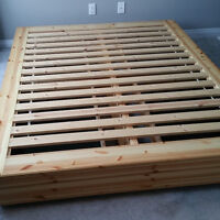 Ikea Mandal Queen-Sized Bed Frame with 4 Storage Drawers