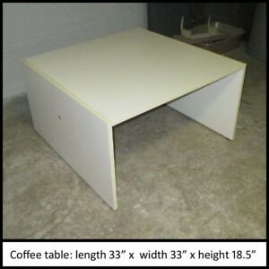 Coffee Table - Large, White, Contemporary style