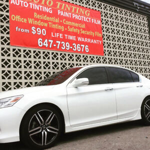 FULL CAR WINDOW TINTING LIFETIME WARRANTY $149