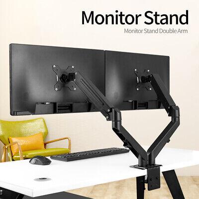 Adjustable Dual Arm Monitor Stand Gas Spring Computer Desk Mount VESA Bracket US