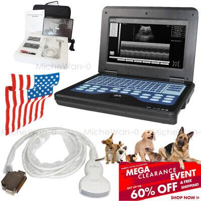 Convex Probe Vet Animal Ultrasound Scanner Veterinary Digital Laptop Fda Fedex
