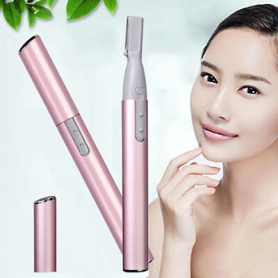 Electric Eyebrow Trimmer Lady Woman Shaver Bikini Legs Body Nose Hair Remover UK