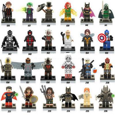 Lot of 24Pcs MiniFigures Lego Super Heroes Series Captain America Ant-Man New