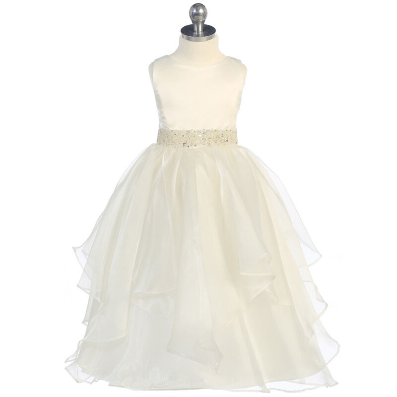 IVORY Flower Girl Dress Birthday Gown Dance Graduation Homecoming Party Formal