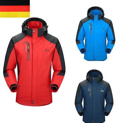 Herren Warm Regenjacke Wasserdicht Winter Outdoor Wandern Skijacke Kapuze Mäntel