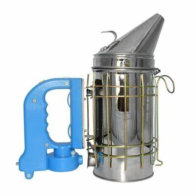 Electric Bee Smoker Beekeeping Hive Equipment Farm Stainless Steel Kit Tool New
