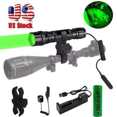 545yd Hunting Flashlight LED Red /Green Light Coyote Hog Pig Varmint Predator