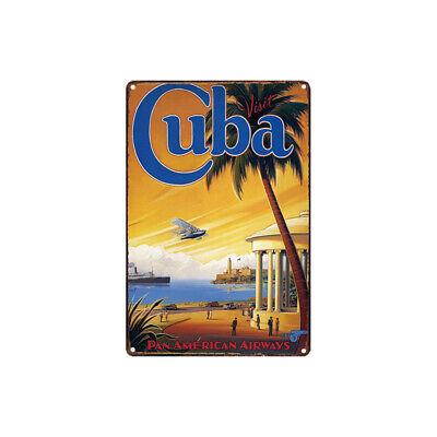 Metal Tin Sign cuba travel poster  Bar Pub Home Vintage Retro Poster Cafe ART - Cuba Sign