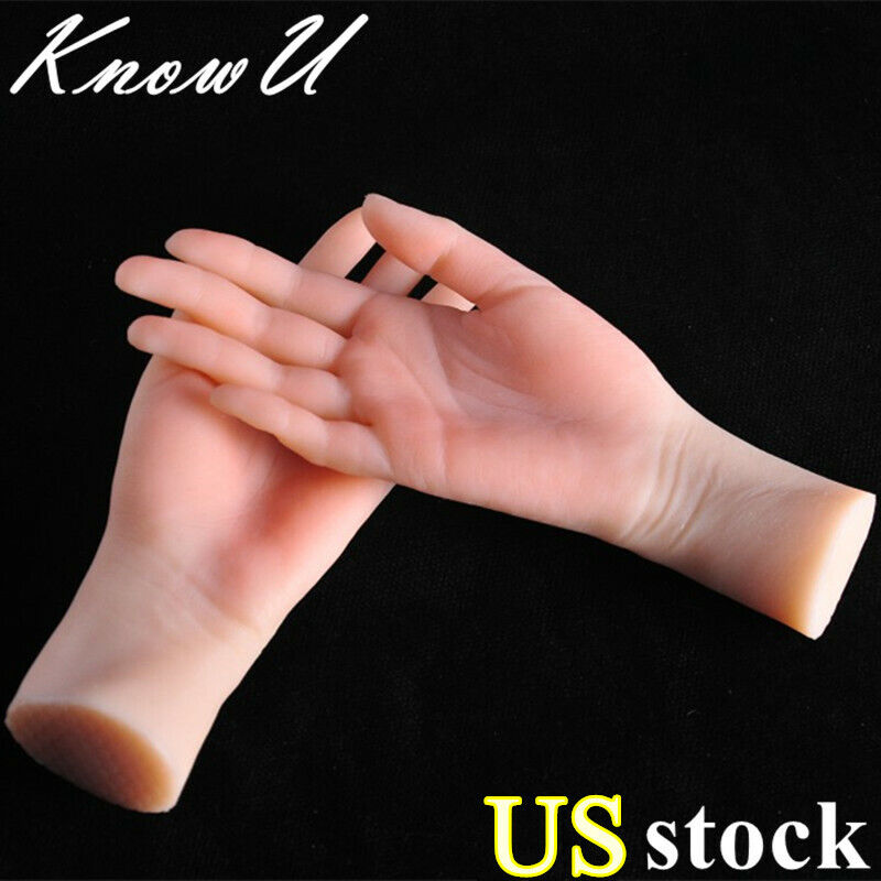 Silicone Female Hand Finger Mannequin Display Jewelry Model Props 1PC US stock