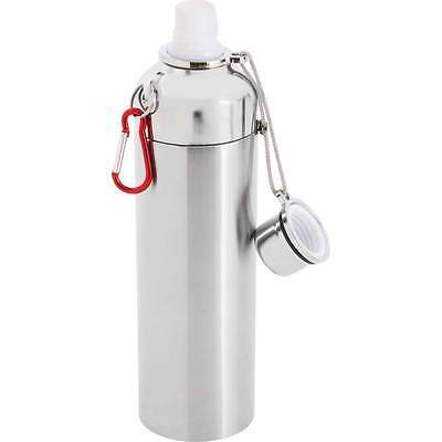 16oz Stainless Steel Sports WATER BOTTLE Double Wall Vacuum Gym Hiking Canteen